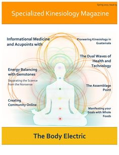The Body Electric, Spring 2017 Interview with Charles Krebs, acupressure formatting, chi, energy balancing with gemstones, specialized kinesiology