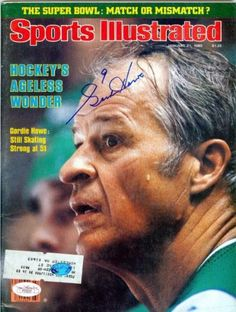 Gordie Howe autographed Sports Illustrated Magazine (JSA Authenticated) - Autographed NHL Magazines -- Want to know more, click on the image.