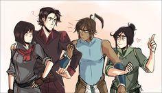 Avatar: The Legend of Korra - Mako, Bolin, Asami and Korra - Genderbent