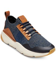 Cole Haan Men's Zerogrand All-day Trainer Knit Low-top Sneakers In Blue/dark Training Sneakers, Marine Blue, Running Shoes For Men, Leather Heels, Comfortable Shoes, Pumps Heels, Designer Shoes, Men's Shoes, Shoes Men