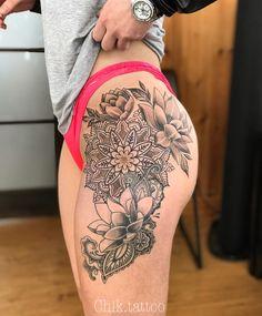 lotus tattoo lace mandala