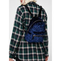 Velvet Quilted Backpack ($38) ❤ liked on Polyvore featuring bags, backpacks, navy, quilted bag, navy blue backpack, navy backpack, patterned backpacks and day pack rucksack