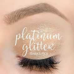 Limited Edition Platinum Glitter ShadowSense by SeneGence is a silver shade with beautiful multi-colored glitter.  Could easily be worn everyday or to Dress up for an Evening out.  #platinumglitter #platinum #glitter #shadowsense #senegence #eyeshadow