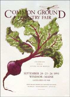 1993 Common Ground Country Fair Poster - The Maine Organic Farmers and Gardeners Association