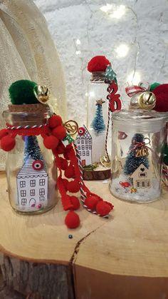 Christmas Charm - Art Makes Me Happy- Christmas Chains – Art Makes Me Happy - Christmas Wedding, Christmas Time, Christmas Crafts, Christmas Decorations, Xmas, Christmas Ornaments, Holiday Decor, Lucky Charm, Little Houses
