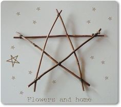How to make a star with twigs - this was easy and looks great!