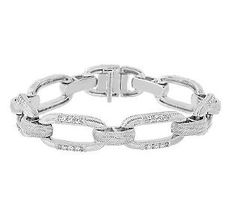 Judith Ripka Textured Statement Diamonique Link Bracelet — QVC.com