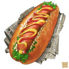 Food Art Painting, Recipe Drawing, Cute Food Art, Food Sketch, Cute Food Drawings, Food Cartoon, Food Wallpaper, Food Illustrations, Aesthetic Food
