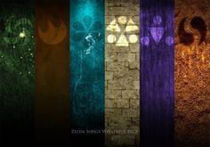 Zelda Songs Wallpaper Pack by paridox