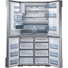Samsung - Chef Collection 34.3 Cu. Ft. 4-Door French Door Refrigerator with Thru-the-Door Ice and Water - Stainless-Steel - AlternateView2 Zoom