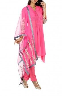Baby Pink Georgette Salwar By Mohini And Ashutosh Rs 23700