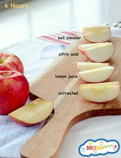 How to Keep Apples from Browning in a Lunch Box; knew about lemon juice but any citrus juice works, like pineapple.