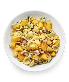 Half a dozen unique ways to serve cantaloupe, including pasta salad with cantaloupe, feta, and dill.