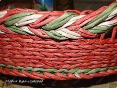 Мастер-класс Поделка изделие Плетение мк трёхцветной косы и пара плетушек Бумага газетная Трубочки бумажные фото 27