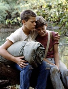 One of the most moving scenes ever.  River Phoenix and Will Wheaton in Stand By Me.