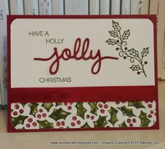 Windy's Wonderful Creations, Stampin' Up!, Holly Jolly Christmas, Christmas Greetings thinlits, Embellished Ornaments, Season Of Cheer DSP
