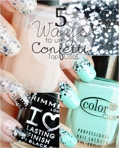 5 Ways to Use L'Oreal Confetti Top Coat
