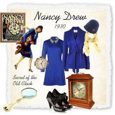 Nancy Drew: Secret of the Old Clock, 1930 Nancy Drew Costume, Nancy Drew Party, Nancy Drew Games, Nancy Drew Books, Literary Costumes, Nancy Drew Mysteries, Nerd Fashion, Old Clocks, Halloween Costumes For Girls