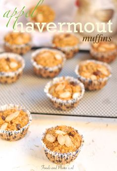 havermout muffins met appels Pecans, Cupcakes, Cookies, Breakfast, Recipes, Crack Crackers, Morning Coffee, Cupcake, Biscuits