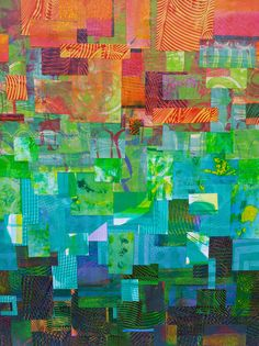 "Gelli prints - ""ombre""style collage by felicia borges"