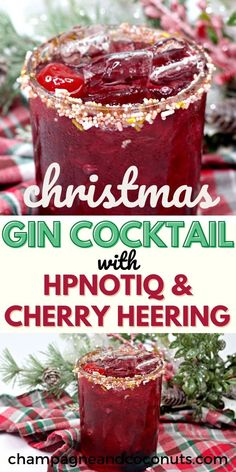 Sip on a fun Gin and Hpnotiq, Cherry Heering Christmas Cocktail! You'll love how these cherry, passion fruit, and mango flavors combine to make a unique holiday inspired drink. And of course, it's ideal to serve year round too. It's so red, festive, and full of flavor that we love to serve this drink for the holidays and special occasions.