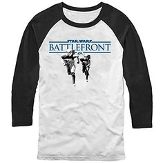 Star Wars Battlefront Stormtroopers Logo Mens M Graphic Baseball Tee - Fifth Sun Fifth Sun