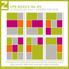 Life Basics No. 03 Template Set - Digital Scrapbooking Templates