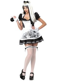 This Sexy Dark Alice Costume is a Gothic take on the classic Alice in Wonderland. Get our dark Mad Hatter costume for your date, for a unique couples costume idea.
