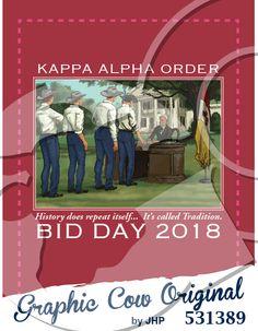 Kappa Alpha Order Bid Day Robert E Lee #bidday #grafcow
