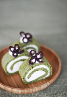 Matcha Green Tea Swiss Roll with Baileys Irish Cream