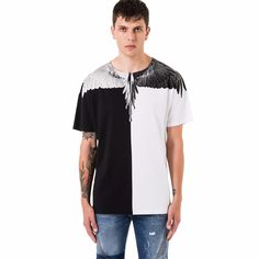 Marcelo Burlon T Shirt Marcelo Burlon 3d T-shirts Novelty 2016 Clothes Kanye West Yeezy Shirt Clothing Drake Men Hipster Clothes