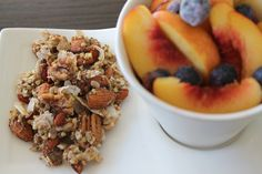 Raw Vegan Coconut Goji Berry Crunch Granola: A delicious whole food snack or breakfast.