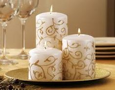 Image result for pillar candles decoration