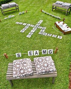 Outdoor Oversized Scrabble