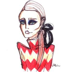 Imperfection ❤️ @gucci #guccifw15 #pattern #polo #fashion #fashionillustration #colours #red #knits #gucci #alessandromichele #womenswear #readytowear #illustration #sketch #drawing #csteien #art #artist #imperfection #beauty #beautyicon #makeup #vogue #elle #ellemagazine #vogueparis #houseofgucci