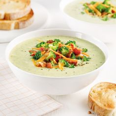 Soupe brocoli et cheddar - Les recettes de Caty Le Diner, Cheddar, Thai Red Curry, Ethnic Recipes, Comme, Food, Diane, Discovery, Apps