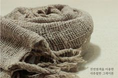 Handmade Muffler (by organic Cotton) by Hand spun, hand dyed with natural dyes, and hand woven in Laos