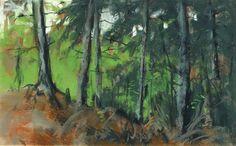 Robert Henri, 'Edge of the Island Woods, Monhegan', 1918, American Realism.