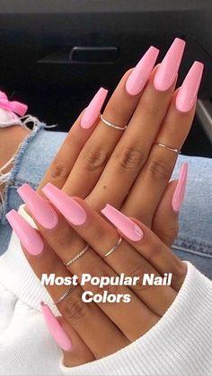 Acrylic Nails Coffin Short, Simple Acrylic Nails, Square Acrylic Nails, Best Acrylic Nails, Acrylic Art, Square Nails, Light Pink Acrylic Nails, Acrylic Nail Designs Coffin, Nail Pink