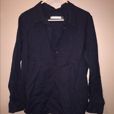 Old Navy black button down. Size XL Old Navy Black button down long sleeve top. Size XL Old Navy Tops Button Down Shirts