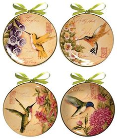 Celebrate the grace and energy of hummingbirds in springtime with these beautifully designed decorative mini plates.  sc 1 st  Pinterest & Set of 4 Currier Ives Miniature Homestead Four Seasons Mini ...