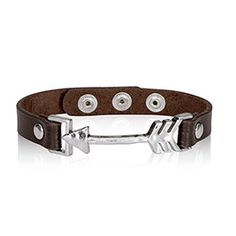 Leather Icon Bracelet - Arrow www.lindsaytanner.net