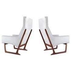 "Mid-Century Modern ""Sled"" Lounge Chairs, Denmark, 1950s"