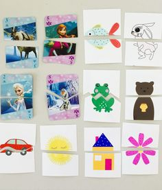 DIY puzzles for toddlers, activities for toddlers, activities for 19 month old, activities for 20 month old, activities for 21 month old, activities for 22 month old, activities for 23 month old, activities for 24 month old, activities for one year old, activities for two year old