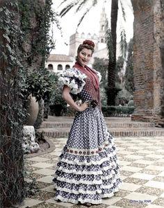 Ava Gadner en el Alcázar de Sevilla en 1964...
