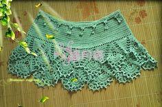 Green Motif Skirt free crochet graph pattern