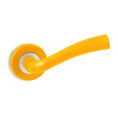 Add on-trend splashes of colour with the Modern Door Handle in Mellon Yellow from www.too-jazzy.com