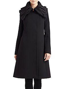 Cinzia Rocca - Funnelneck Wool Coat