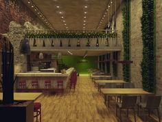 Interior Design project by Isabela Magi - Coffee shop Robusta  (Sketchup + V-ray)  https://www.facebook.com/isabela.magi