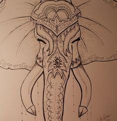 Bali-phant: Bohemian Drawing on Etsy.com. ArtbyARose.$35!